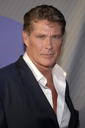 FILE - In this July 2007 file photo, actor David Hasselhoff attends the NBC All-Star Party in Beverly Hills, Calif. Hasselhoff flashes a dreamy smile and displays a lean tank top-clad torso in giant photo cutouts that his fans apparently can't leave alone. About 550 of the cutouts of Hasselhoff were stolen from outside Cumberland Farms convenience stores in recent weeks. Cumberland brand strategy specialist Kate Ngo says only about 20 remain for the roughly 570 stores in New England and Florida. (AP Photo/Phil McCarten, File)