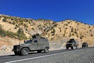 A Turkish military convoy patrols a highway near the border with Iraq in October 2011. Turkish Prime Minister Recep Tayyip Erdogan has accused Syria of letting Turkey's Kurdish rebels operate inside the north of the country and warned that Ankara would not hesitate to strike against them