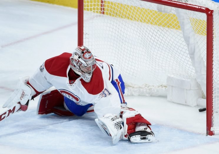 Carey Price has been watching more pucks get behind him than usual lately. (Getty Images)