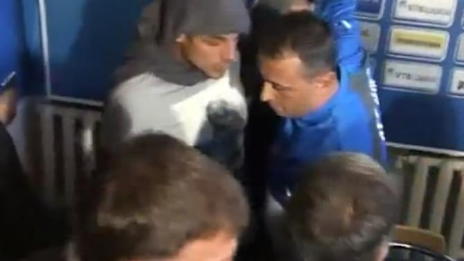 Video: Humiliated coach resigns after he's stripped of jersey by ultras on first day in job