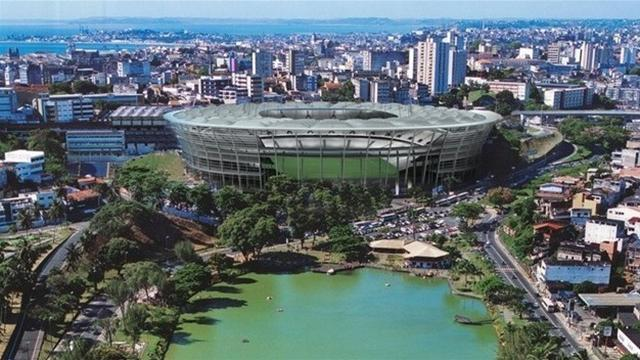 South American Football - Brazil opens third 2014 stadium, nine to go