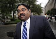 The former hedge-fund manager convicted of insider trading Raj Rajaratnam arrives at court to hear his sentence in New York, October 13, 2011. Former Goldman Sachs director Rajat Gupta is on trial for allegedly feeding confidential information to his friend and billionaire hedge fund investor Rajaratnam