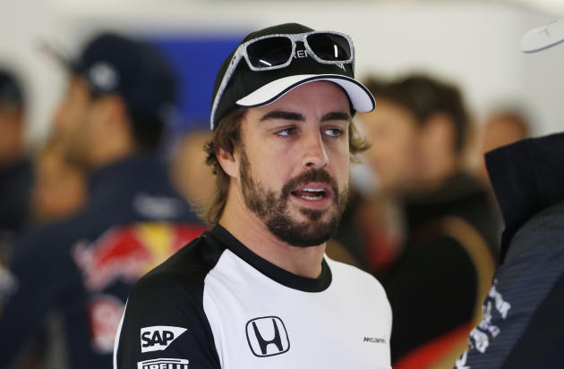CAR: McLaren's Fernando Alonso before the race