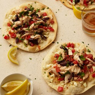 Chicken and Feta Tostadas