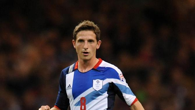 Joe Allen in action for Team GB at the Olympics
