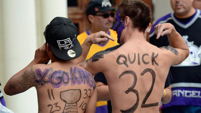 Corey Brankin (R) And Johnny Castellanos (L) From Lancaster, California, Cheer  Getty Images