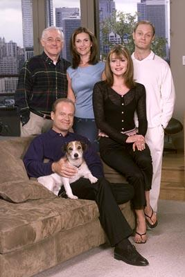 "John Mahoney, Peri Gilpin, Jane Leeves, David Hyde Pierce and Kelsey Grammer NBC's ""Frasier"" Frasier"