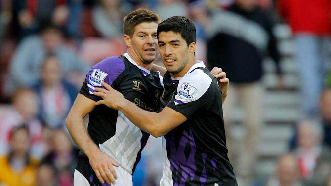 Liga - Gerrard blames 'politics' for Suarez's Ballon d'Or omission
