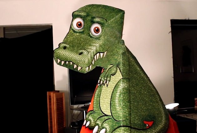 Want to see the freakiest illusion on YouTube? T-Rex picture follows you around the room