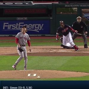 Santana's bases-clearing double
