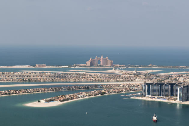 View on artificial island Palm Jumeirah