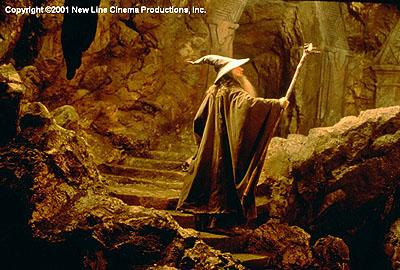 Ian McKellen as the great wizard Gandalf in New Line's The Lord of The Rings: The Fellowship of The Ring