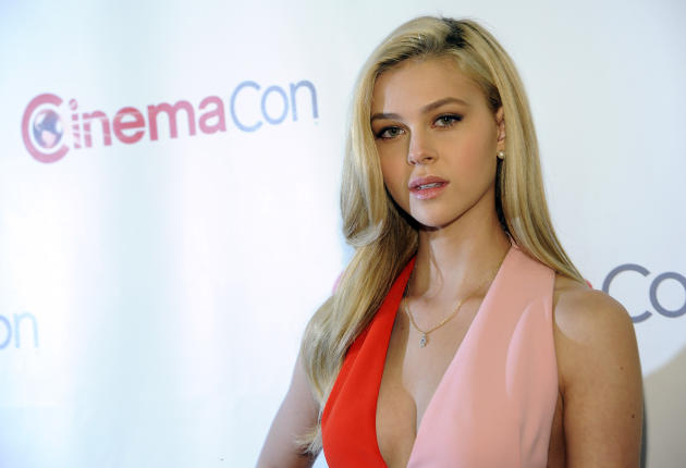 "Nicola Peltz, a cast member in the upcoming film ""Transformers: Age of Extinction,"" poses at the Opening Night Presentation from Paramount Pictures at CinemaCon 2014 on Monday, March 24, 2014, in Las"