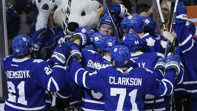 Ice Hockey - Leafs beat Bruins but playoff hopes remain dim