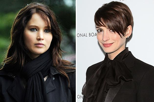 Jennifer Lawrence and Anne Hathaway