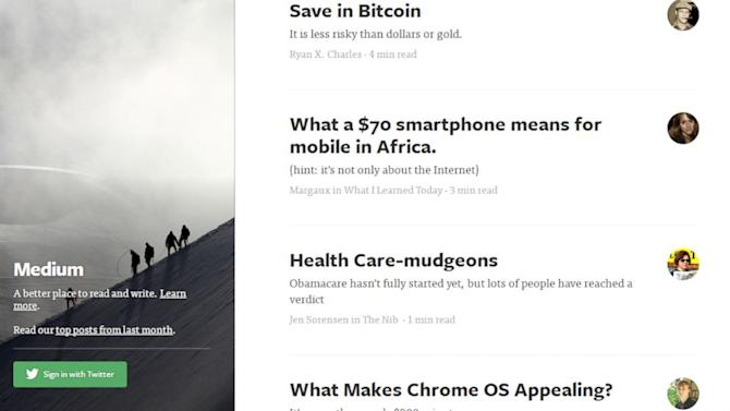 Medium: Former Twitter CEO Launches New Way to Tell Stories
