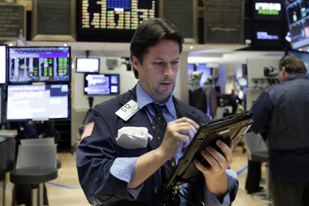 Stocks higher at midday; investors wait for ECB, jobs data