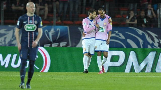Ligue 1 - Evian kill PSG's double dream in Coupe de France shoot-out