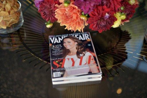 File photo shows a copy of Vanity Fair at an event in Los Angeles. US publishing group Conde Nast is set to launch a French version of its iconic magazine Vanity Fair, a senior official has told AFP.