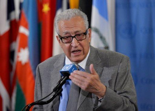 International peace envoy Lakhdar Brahimi (pictured in New York last month) arrived in the Syrian capital on Sunday, an AFP correspondent said, on a new mission to try to resolve a brutal conflict which has raged for almost two years.