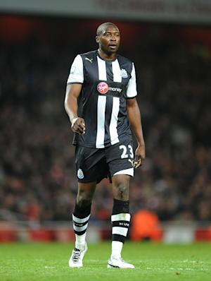 Shola Ameobi struck the woodwork for Newcastle