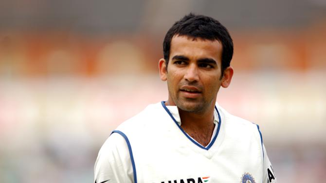 Zaheer Khan bowled Jeetan Patel for 22 in the second Test in Bangalore