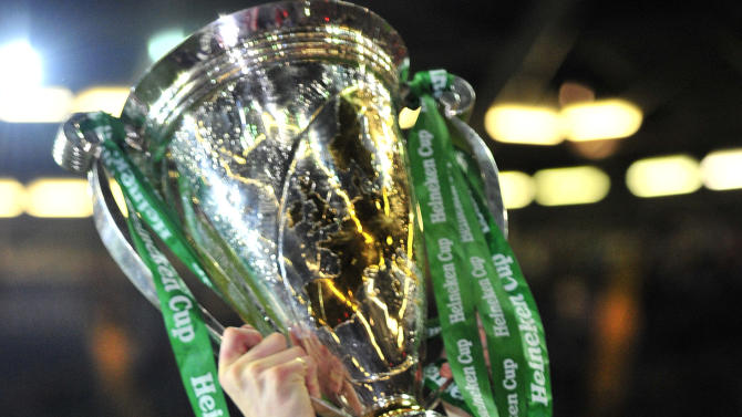 Leinster's Irish centre Brian Driscoll holds the trophy as he celebrates after winning their Heineken Cup Final match against Northampton Saints at the Millennium Stadium in Cardiff on May 21, 2011.  AFP PHOTO / GLYN KIRK NOT FOR MARKETING OR ADVERTISING USE/RESTRICTED TO EDITORIAL USE (Photo credit should read GLYN KIRK/AFP/Getty Images)