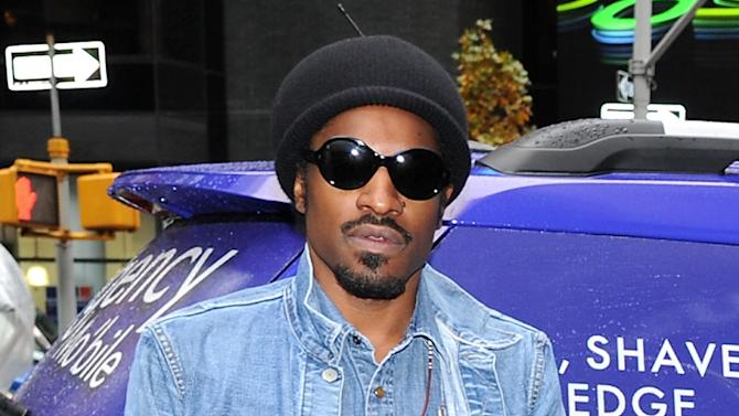 "FILE - This Nov. 13, 2012 file photo shows musician and actor Andre Benjamin, better known as Andre 3000, during a promotional event for Gillette in New York. Benjamin will star as rock legend Jimi Hendrix in the film, ""All is By My Side,"" set for release in 2013. (Photo by Evan Agostini/Invision/AP, file)"