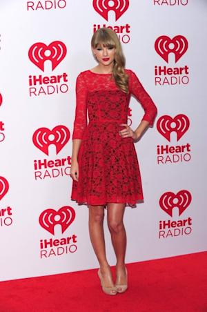 Taylor Swift poses in the press room at the iHeartRadio Music Festival at the MGM Grand Garden Arena September 21, 2012 in Las Vegas -- Getty Images