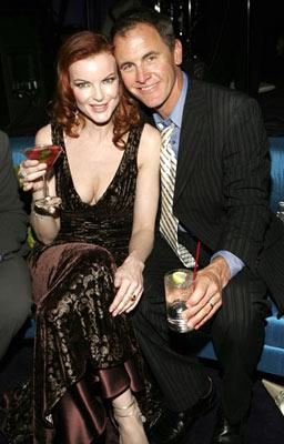Marcia Cross and Mark Moses InStyle/Warner Bros. Golden Globes Party The Palm Court at the Beverly Hilton - Beverly Hills, CA - 1/16/05
