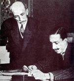 Alfonso XIII y Eduardo Dato