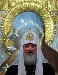 Russian Orthodox Church Head, Patriarch Kirill, speaks at Christ the Saviour Cathedral in Moscow on March 14. Three feminist punks face up to seven years in a prison colony if found guilty of hooliganism by performing in the cathedral, in the case that has proved highly polarising in the predominantly Orthodox country