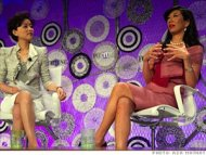 China's Yang Lan and Avon CEO Andrea Jung