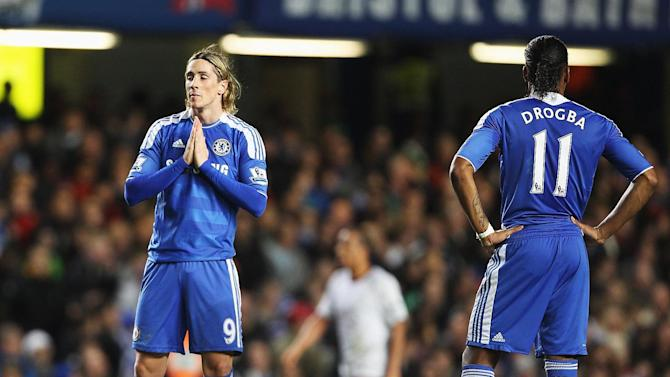 Fernando Torres and Didier Drogba (right)