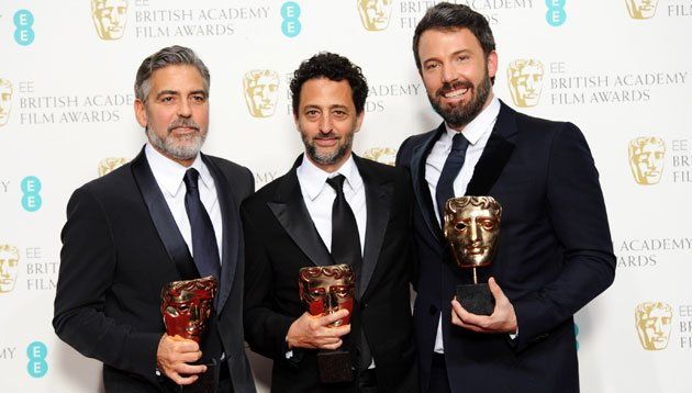 BAFTA winning 'Argo' producers George Clooney, Grant Heslov and Ben Affleck