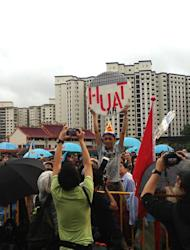 A WP supporter goes all out during a recent rally.