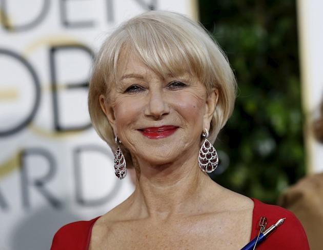 Actress Helen Mirren arrives at the 72nd Golden Globe Awards in Beverly Hills