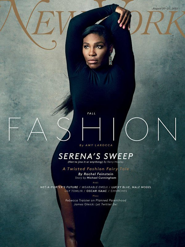 Serena Williams looks stunning on the cover of New York Magazine's fashion issue.
