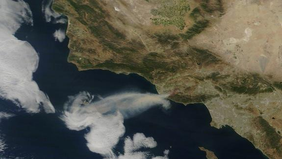 View from Space: Animation of California's Springs Wildfire
