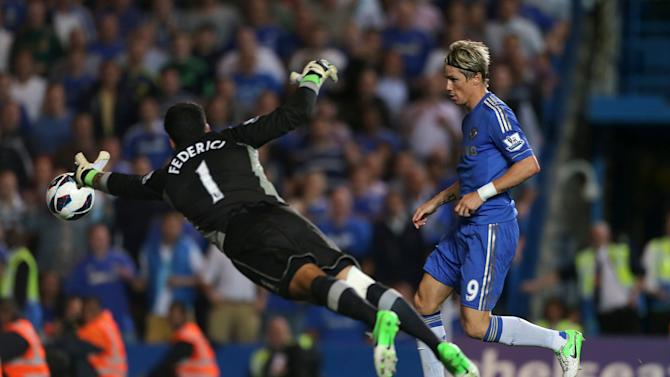 Replays suggested Fernando Torres, right, was offside when he scored Chelsea's third goal