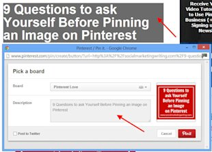 20 Pinterest Tricks And Tips You Might Not Have Discovered image The Highlighted Text Automatically Appears in the Pin Description