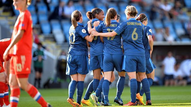 Women's Euro - Delie bags brace as France see off Russia