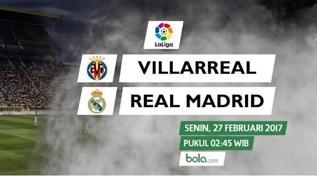 Saksikan Live Streaming Villarreal Vs Real Madrid