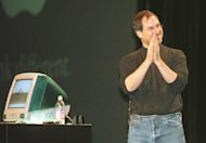 Steve Jobs introduces the iMac personal computer in San Francisco in Spetember 1, 1998, 14 years after the release of the first Mac