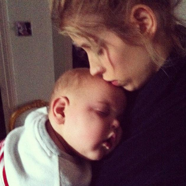 Celebrity Twitpics: Peaches Geldof tweeted this gorgeous photo of her and her sleeping son, Astala.