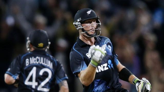 Cricket - Guptill and McCullum star as NZ beat England in first ODI