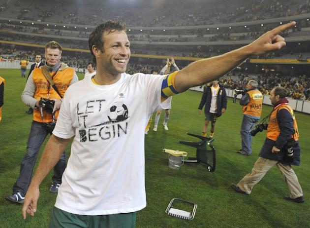 Former Australian football captain Lucas Neill (pictured in 2009) has declared bankruptcy in Britain with administrators appointed to investigate his affairs