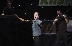 Tedder, lead singer of OneRepublic, performs at KIIS FM's Jingle Ball concert in Los Angeles