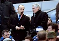 France head coach Philippe Saint Andre (L) pictured before the Six Nations match against Wales on February 9, 2013. Saint-Andre conceded his side had no hope of winning the Six Nations, but said their goal now was to win respect following their 16-6 defeat