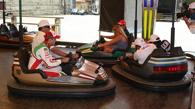 WTCC - Drivers warm up in bumper cars for Porto